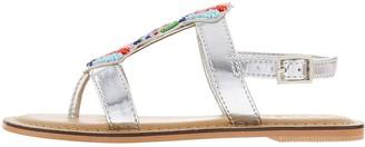 Accessorize Girls Beaded Fan Sandals - Multi