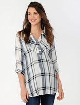 A Pea in the Pod Luxe Essentials Button Detail Maternity Shirt