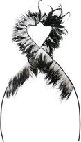 Ann Demeulemeester feather thin scarf