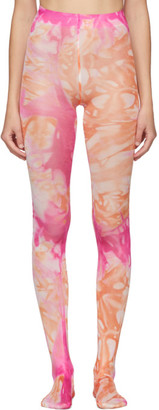 Versace Pink and Orange Tie-Dye Tights