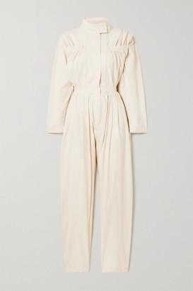 PARADISED Alex Pleated Cotton-crepe Jumpsuit