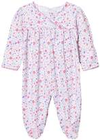 Kissy Kissy Pink Floral Frill Front Babygrow