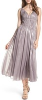 Vera Wang Women's Empire Waist Ruched Cocktail Dress