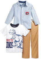 Nannette 3-Pc. T-Shirt, Shirt & Pants Set, Toddler Boys & Little Boys (2T-7)