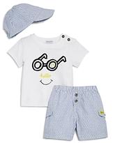 Absorba Boys' Hello Tee, Shorts & Hat Set - Baby