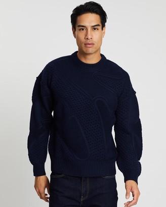 Cerruti Waffle-Knit Wool Jumper