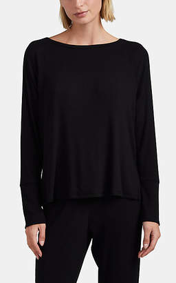 Skin Women's Naomi Cotton-Modal Long-Sleeve Top - Black