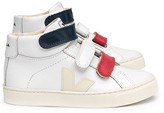 Veja Three-Tone Leather Velcro Esplar Mid High-Top Trainers
