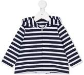 Il Gufo striped zip hoodie