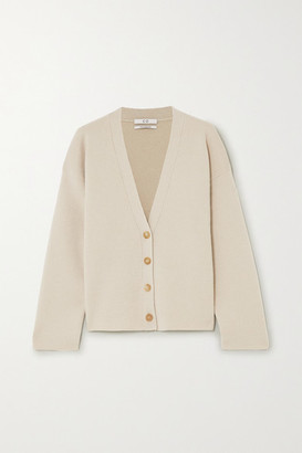 Co Wool And Cashmere-blend Cardigan - Taupe