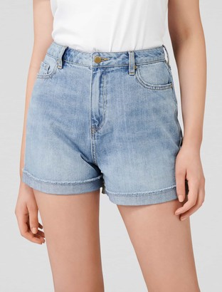 Forever New Mimi High Rise Denim Shorts - Abbey Blue - 10