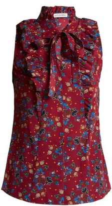 Altuzarra Choukri Floral-print Top - Womens - Pink Print