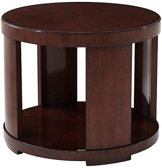 Ralph Lauren Home Modern Drum End Table - Chairman Mahogany
