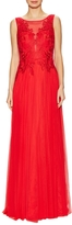 Basix II Women's Embroidered Pleated Gown