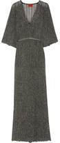 Missoni Metallic Crochet-knit Maxi Dress - Gray