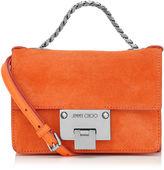 Jimmy Choo REBEL SOFT MINI Orange Suede Mini Cross Body Bag