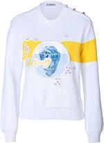 Iceberg Jersey Sweatshirt with Flowers