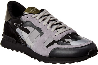 Valentino Rock Runner Camouflage Reflective Suede & Leather Sneaker