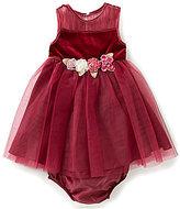 Rare Editions Baby Girls 12-24 Months Sleeveless Velvet-Bodice Dress