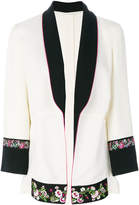 Etro floral embroidery trim jacket
