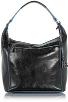 Francesco Biasia Georgia Black Leather Shoulder Bag