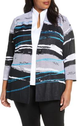 Ming Wang Abstract Stripe Jacket
