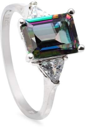 Orafina 10K White Gold, Mystic Topaz Crystal Ring