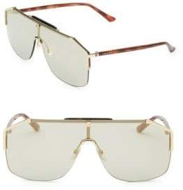 Gucci 99MM Man Blonde Shield Sunglasses