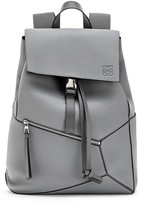 Loewe Men's Puzzle Leather Backpack with Asymmetrical Details