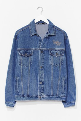 Nasty Gal Womens Vintage Oversized Denim Jacket - Blue - S/M