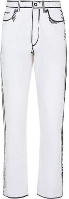 Fendi x Joshua Vides straight-leg jeans