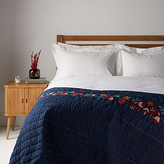 John Lewis Folklore Crest Quilted Cotton Bedspread