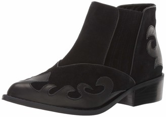 LFL by Lust for Life Women's L-Swift Ankle Boot Black Leather 9 M US