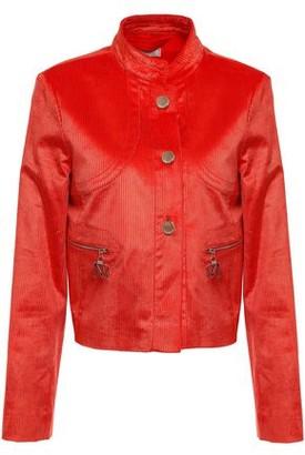Nina Ricci Cropped Cotton-blend Corduroy Jacket