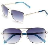 Lilly Pulitzer 'Cambridge' 59mm Aviator Sunglasses