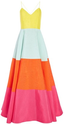 Alice + Olivia Lavelle Colorblocked Maxi Dress