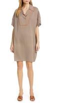 Diane von Furstenberg Maxine Stretch Silk Georgette Shirtdress