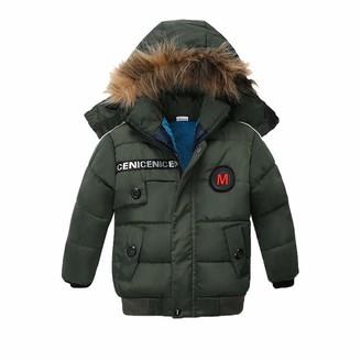 SO-buts Chlidren Kids Baby Boys Girl Winter Warm Coats Jacket Zipper Thick Cute Ears Snow Hooded Short Outwear Windproof Clothes