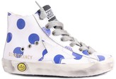 Golden Goose Deluxe Brand Francy Polka Dot Zip-Up Sneakers