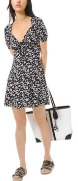 Michael Kors Michael Printed Empire-Waist Mini Dress