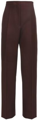 Jil Sander High Waist Raw Wool Twill Pants