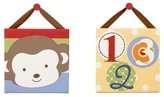 CoCalo Four Lil Monkeys Canvas Art Two Pack