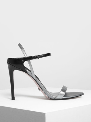 Charles & Keith Leather Stiletto Heel Sandals