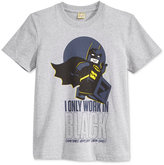 Lego Batman I Only Work In Black T-Shirt, Big Boys (8-20)