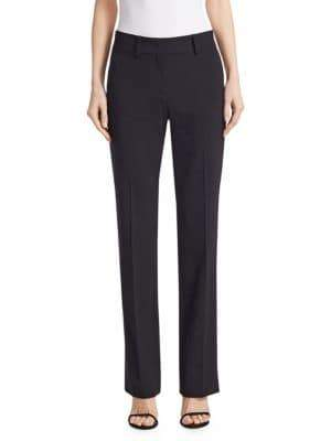 Piazza Sempione Stretch Wool Wide-Leg Trousers
