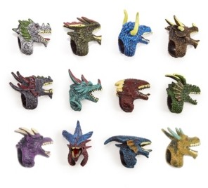 Twos Company Two's Company Refill for Dragon Duel 48 Pc Mystery Dragon Adjustable Ring Finger Puppet