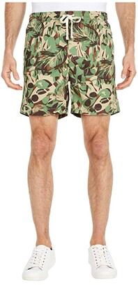 J.Crew Dock Shorts - Jungle Leaf Camo (Green/Khaki) Men's Shorts