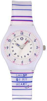 Lulu Castagnette Girls Analogue Quartz Watch with Plastic Strap 38796