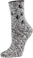 Me Moi Memoi Bejeweled For Joy Marl Crew Socks