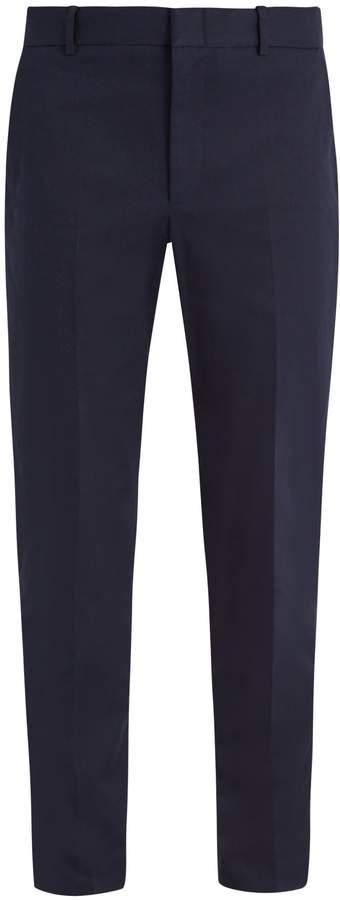 Gucci Slim leg cotton-blend chino trousers